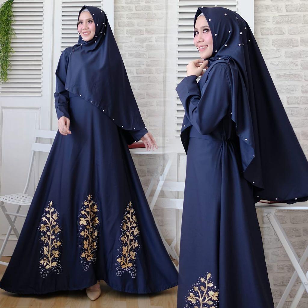 quinnyshop-COD-baju gamis wanita terbaru-gamis lebaran 11-baju muslim  syari terbaru-gamis sar i