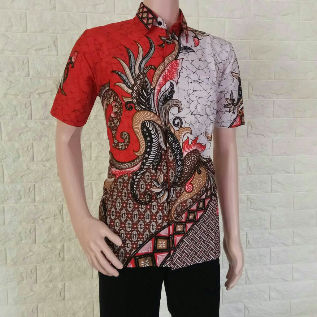 Model Kemeja Baju Batik Pekalongan Baju Batik Modern Hem batik pria motif  Arjuna Orange  6f0d487bb4
