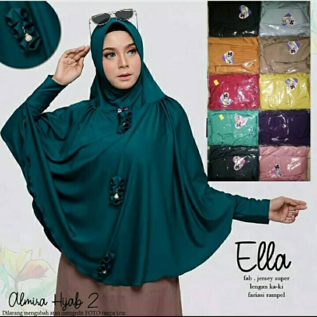 Hijab Jilbab Lengan Ella Kerudung Lengan Jumbo Shopee Indonesia