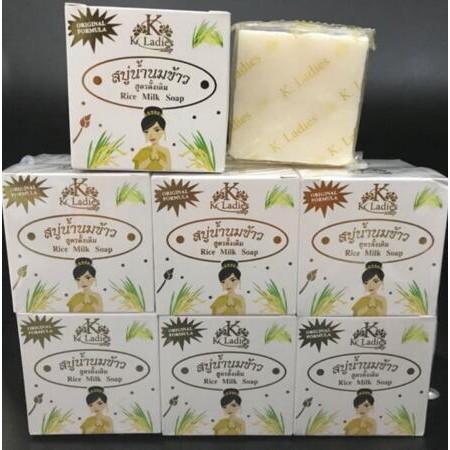 Isi 12 Pcs Sabun Beras Susu Original Thailand K Ladies Bpom Kemasan Kotak Rice Milk Facial Soap Shopee Indonesia