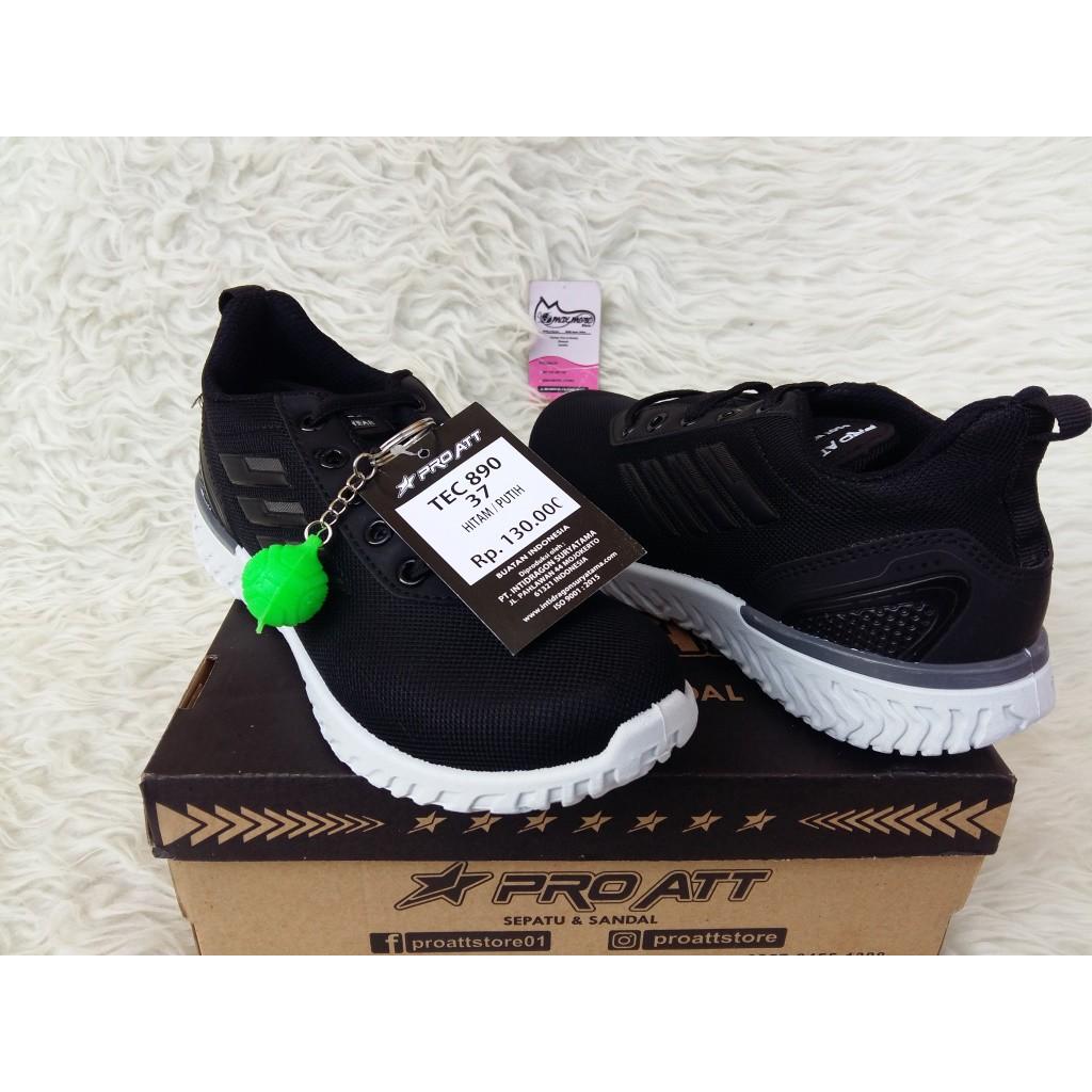 Pro Att Tec 890 Tg Tali Hitam Putih Sepatu Sneakers Sepatu