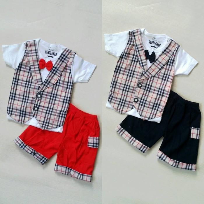 NEW Mr.Inc Baju Bayi Laki-Laki Polo Burberry Dasi Kupu Terbaru ... 2c8ad0de00