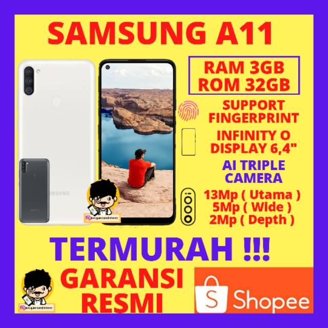 SAMSUNG A11 RAM 3GB ROM 32GB 3/32 GARANSI RESMI SEIN HP SAMSUNG MURAH HP SAMSUNG TERBARU RAM 3