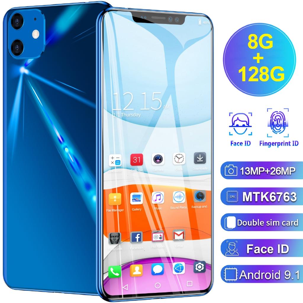 Hp Handphone Android 8gb Ram 128gb Rom 6 1 Jaringan 4g Shopee Indonesia
