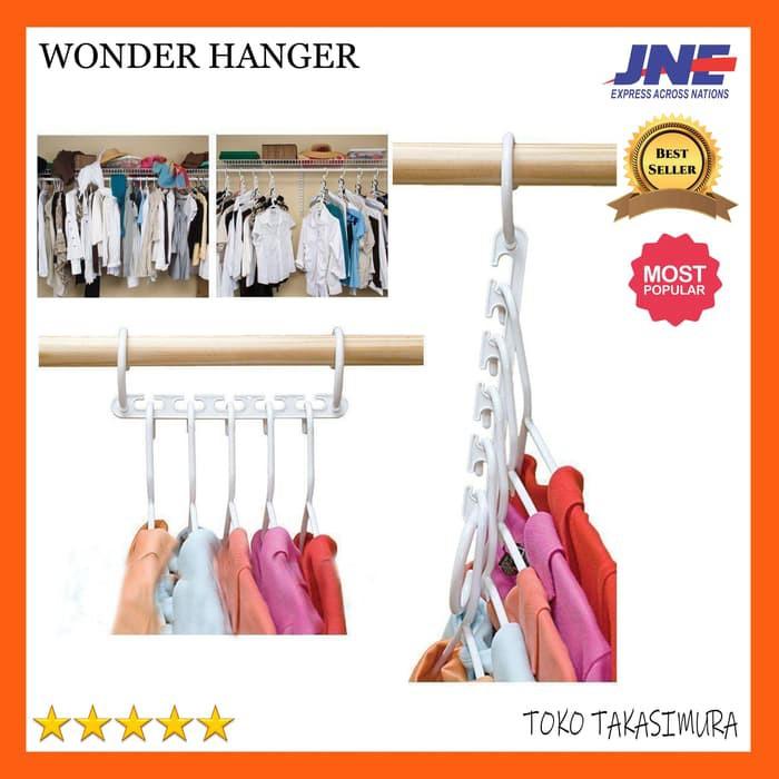 (ISI 8pcs) Magic Hanger / Wonder Hanger / Hanger Ajaib gantungan baju ajaib | Shopee Indonesia
