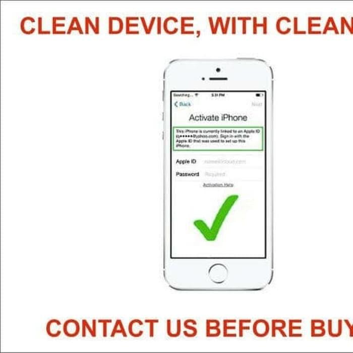 Jasa Unlock Icloud Iphone 5s 6 6plus 6s 6splus 7 Shopee Indonesia