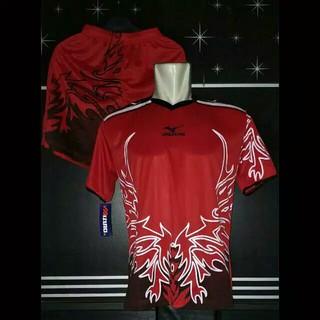 Baju Voli Mizuno Wing - MRH   Perlengkapan Olahraga Volley Ball   Kostum Tim    Setelan Jersey Volly  3e25382c59