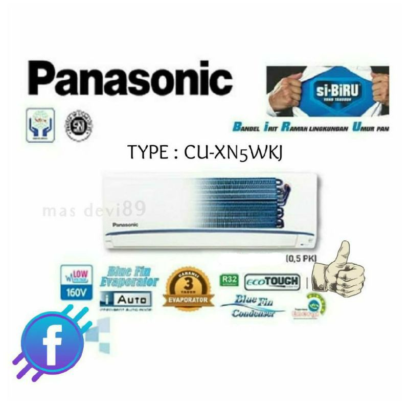 Nota Ac Panasonic 1/2 Pk Low Watt Low Voltage AC Sehat