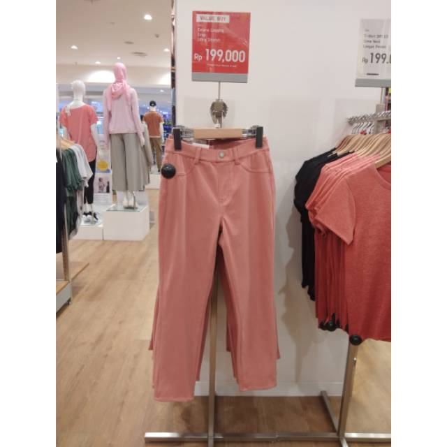 Sale Uniqlo Women Celana Legging Crop Ultra Stretch Shopee Indonesia