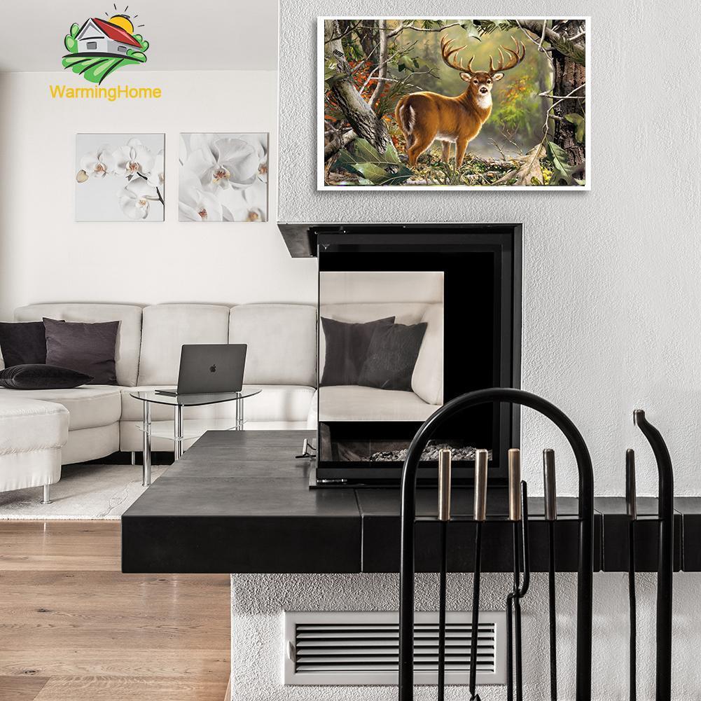 DIY Lukisan Diamond 5D Dengan Gambar Mozaik Rusa Untuk Hiasan Dekorasi Rumah