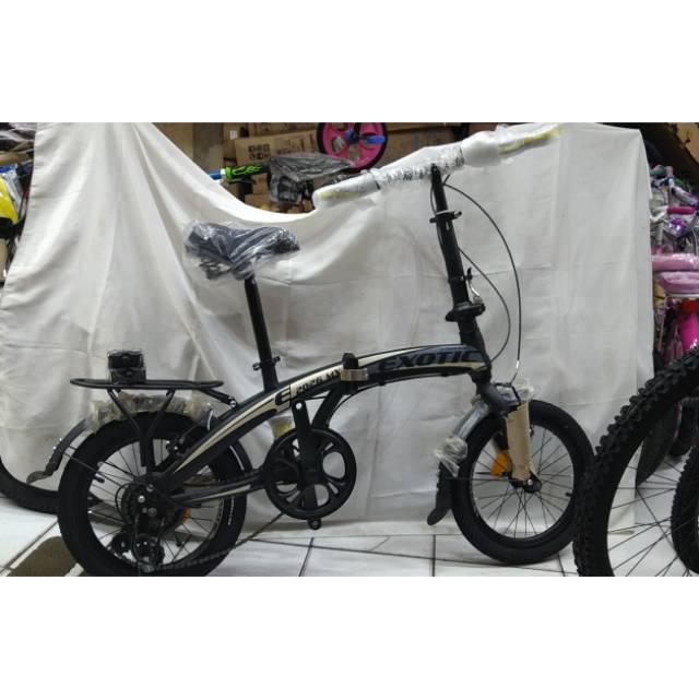 Jual Sepeda Lipat Exotic 2026 ukuran 20 warna Pink untuk