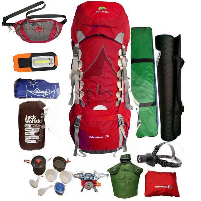 Paket Alat Camping Paketan Alat Naik Gunung Lengkap Tenda Carrier Sb Kompor Dll Paket B Shopee Indonesia