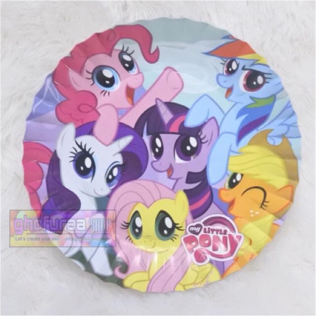 Piring Kertas Kue Ulang Tahun Anak Gambar Karakter My Little Pony Ukuran Small 12cm