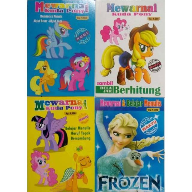 Buku Mewarnai Paud Tk Seri Little Pony Frozen Shopee Indonesia
