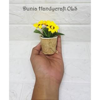 sunflower mini pajangan bunga imitasi manis cantik murah