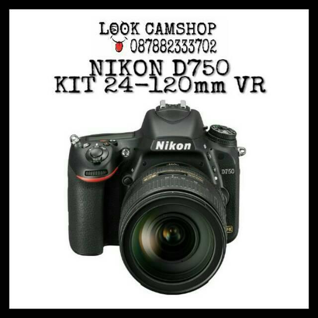 Nikon D750 Kit AF-S 24-120mm f/4G ED VR Free Nikon DSLR Bag GARANSI RESMI   Shopee Indonesia