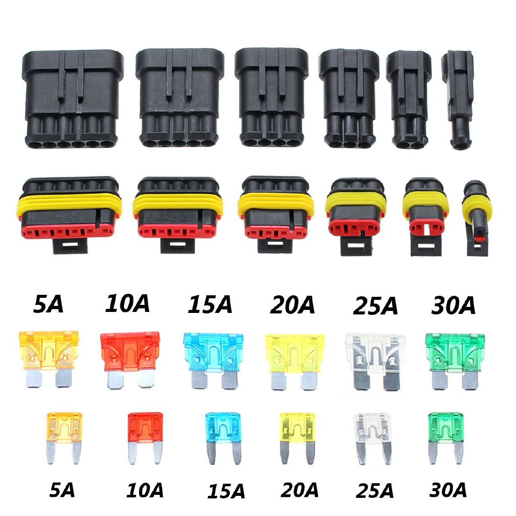 1 Set Waterproof Car Auto Electrical Wire Connector Plug Kit 1-6 Pin Way