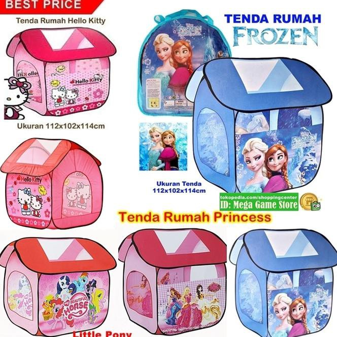 Tenda Rumah Istana Princess Tenda Anak Mandi Bola Castle Tent - Pink Murah | Shopee Indonesia
