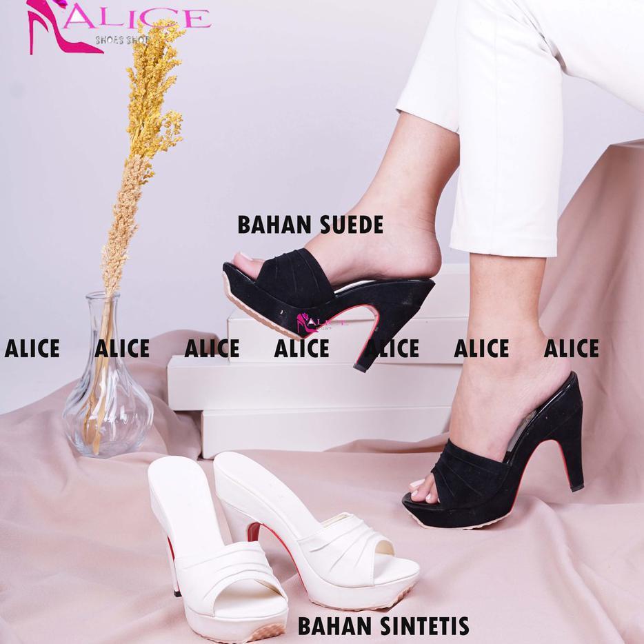 ... Hot Alice - Real Pic Sepatu Hak High Heels Tinggi Wanita Korea 9Cm Kokop Hitam Putih ...