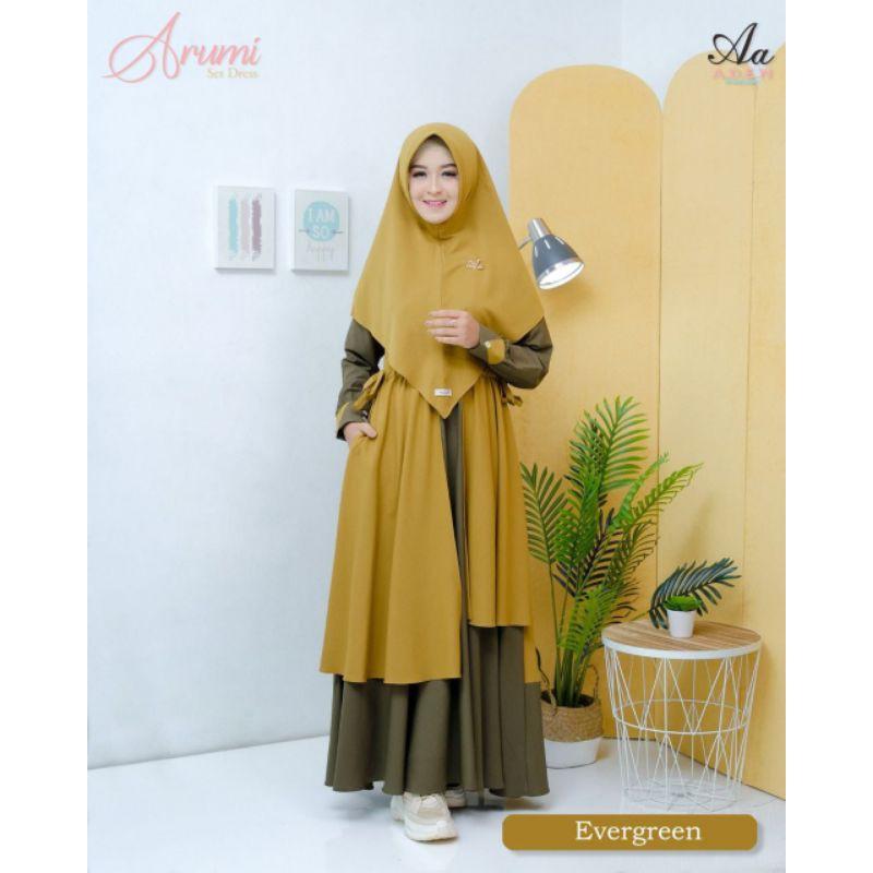 Gamis Arumi Set by Aden Hijab Pre Order