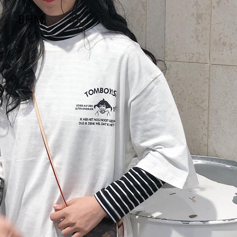 Kaos T Shirt Wanita Dengan Bahan Katun Warna Ungu Dan Gambar Kartun Bergaya Korea Shopee Indonesia