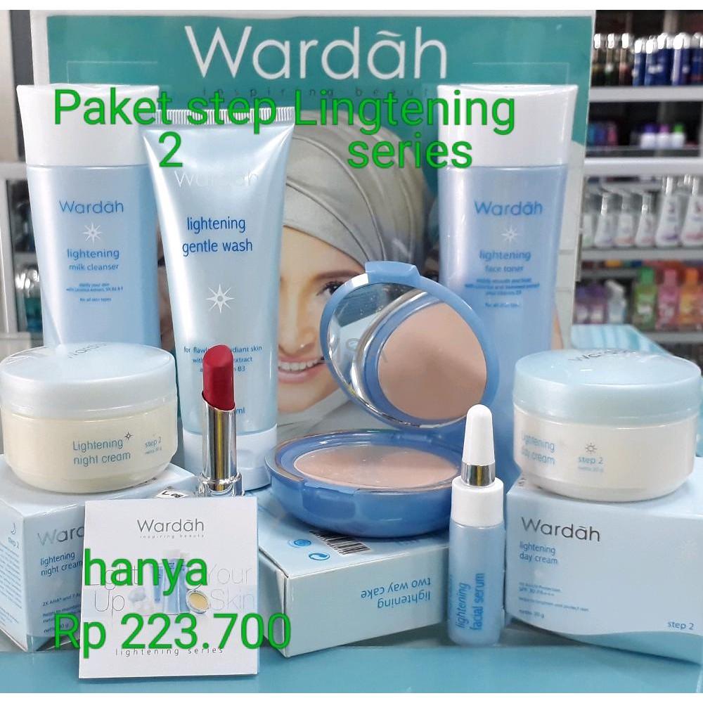 Wardah Paket Lightening Series Step 2 9 Item Shopee Indonesia Kosmestik