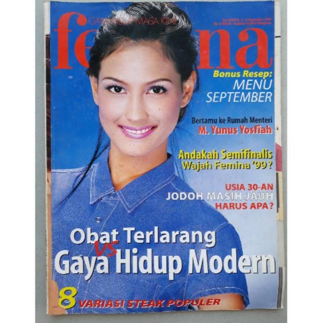 Majalah Femina 2 8 September 1999 Shopee Indonesia