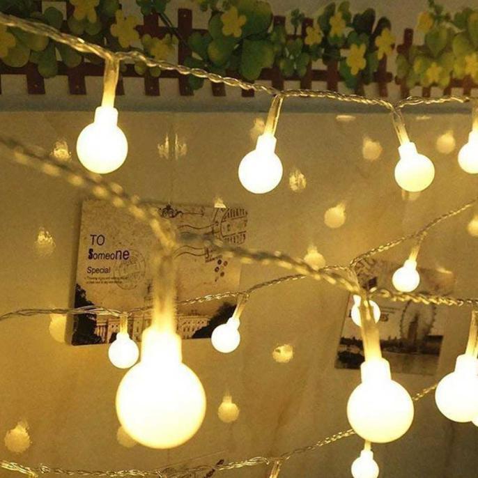 Lampu Hias Taman Natal Kafe Outdoor Led Taffled Waterproof Aa Batterai Warm White 6 Meter Stok Shopee Indonesia