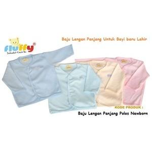 Baju Atasan Bayi Lengan Panjang Hikaru Polos Stiker Newborn Baru Lahir | Shopee Indonesia