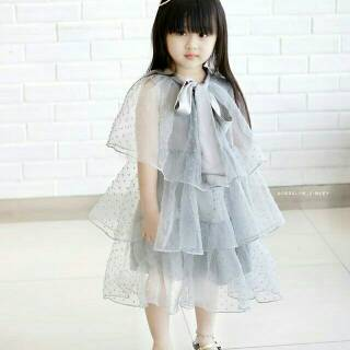 Gaun Pesta Anak Organza Premium Shopee Indonesia