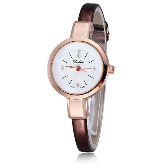 YUHAO Jam Tangan Wanita Fashion Casual Faux Leather Analog Women Wrist Watch  W13 97933c41f4