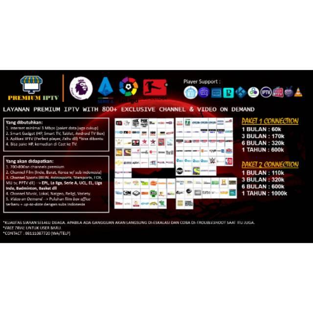 Iptv Ip Tv Channel Super Lengkap Bola Movie Kids Sports Lokal Dll Shopee Indonesia