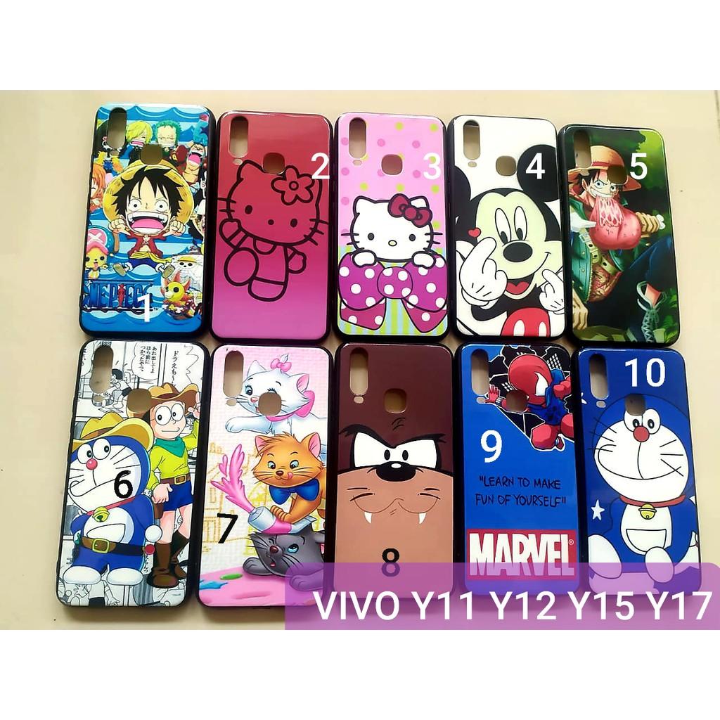 Softcase Doraemon Vivo Y12 Y15 Y17 Y11 E Piece Luffy Hello Kitty Merah Hello Kitty Pink Mickey Cat