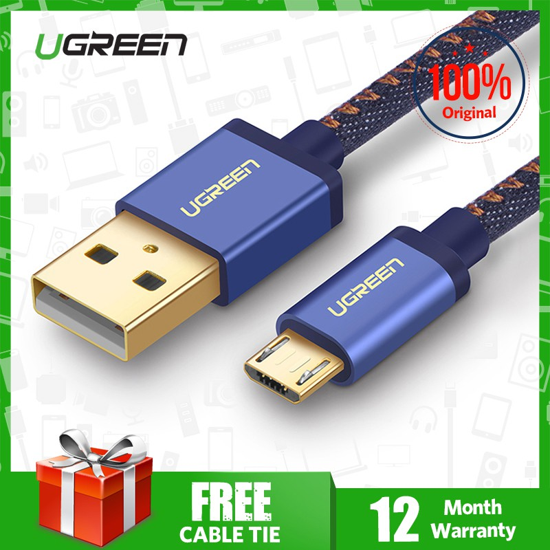 UGREEN Original 5V2A Kabel Data / Charger Micro USB Fast Charging Model Kepang | Shopee Indonesia
