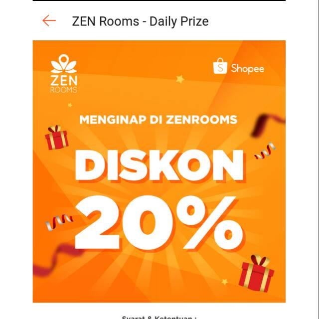 Voucher Diskon Zenrooms Airy Agoda Reddoorz Fave Villa Travel Penginapan Shopee Indonesia