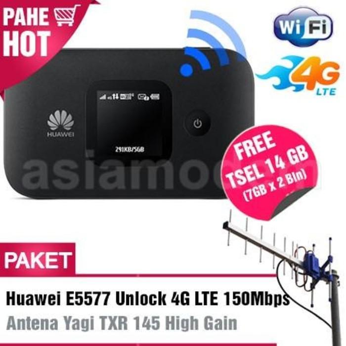 Paket Modem Huawei E5577 4G LTE + Antena Yagi TXR175 22dBi + Pigtail Dual | Shopee Indonesia