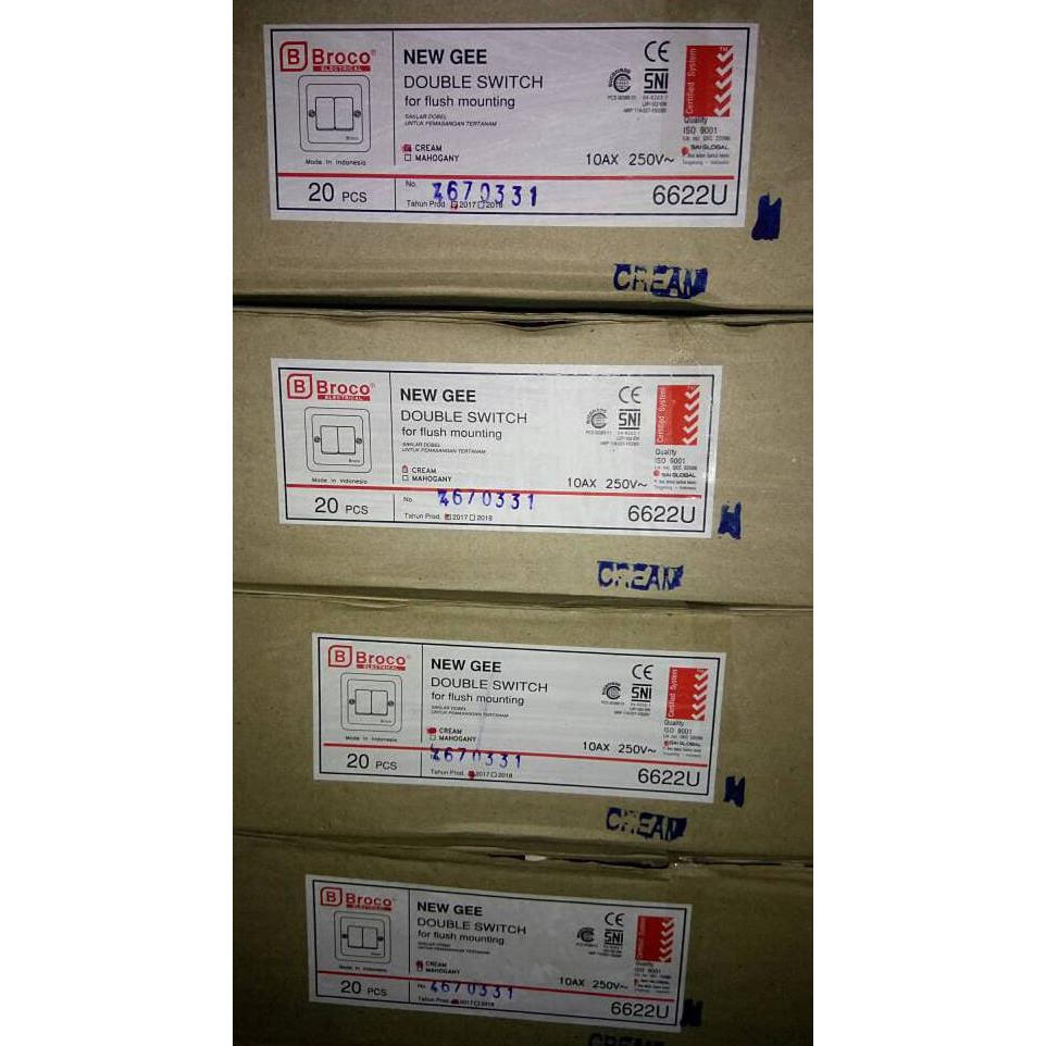 Restock Nero Saklar Decora Q7 Q71632d W White Shopee Indonesia Stainless V81631 Lampu 3 Tombol