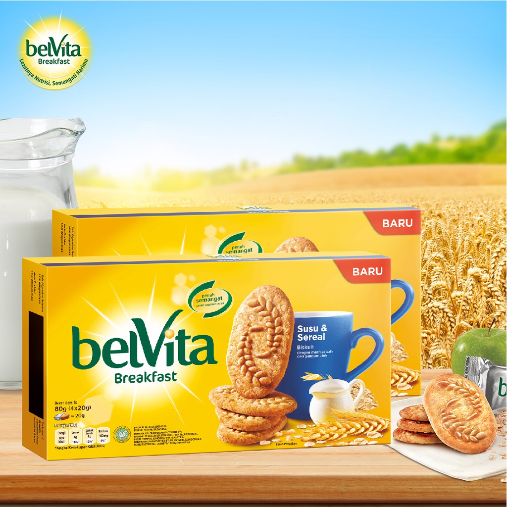 Buy 2 Get Free Belvita Milk Cereal 80 Gr Shopee Indonesia Oreo Thin Vanila Pcs Tiramisu 1 Pouch