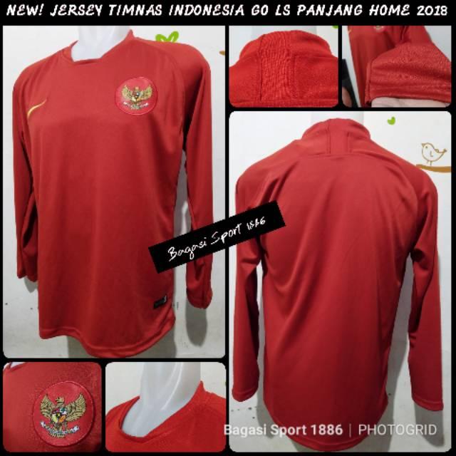 Jual Jersey (Baju Bola) Timnas Indonesia Indo Grade Ori GO Merah Home LS Long Sleeve 2018 AFF Games   Shopee Indonesia