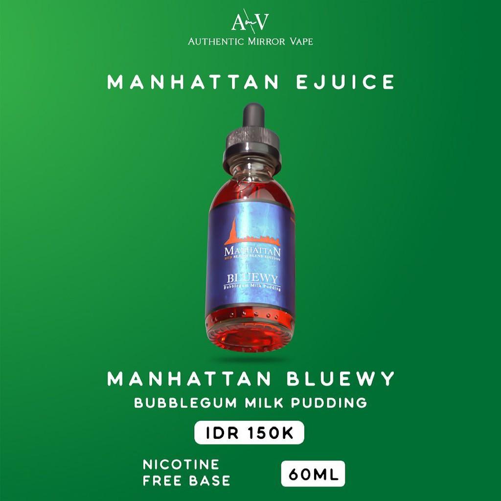 Manhattan Bluewy 6MG/9MG/12MG/18MG/24MG 60ML By Manhattanliquid Autehntic - Liquid Freebase