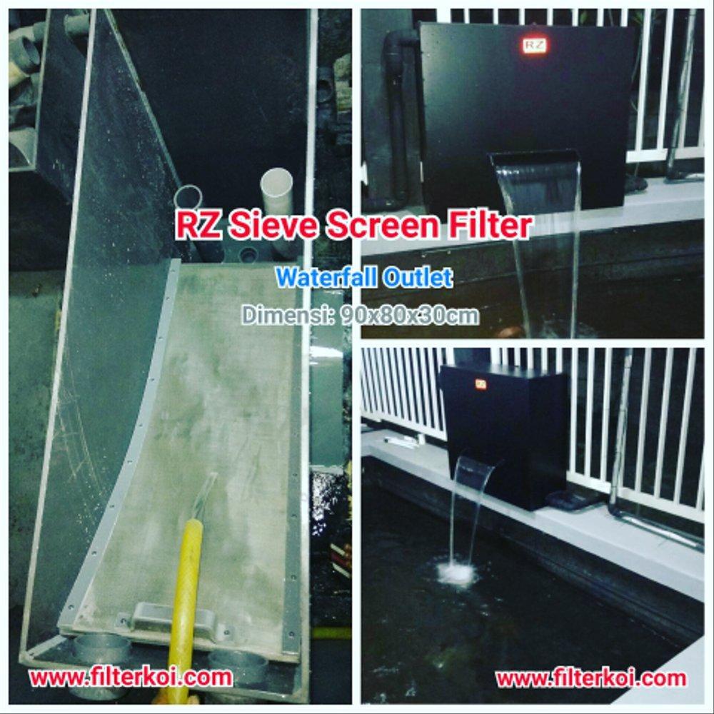 Filter Kolam Ikan Koi Model Sieve Screen 300 Micron