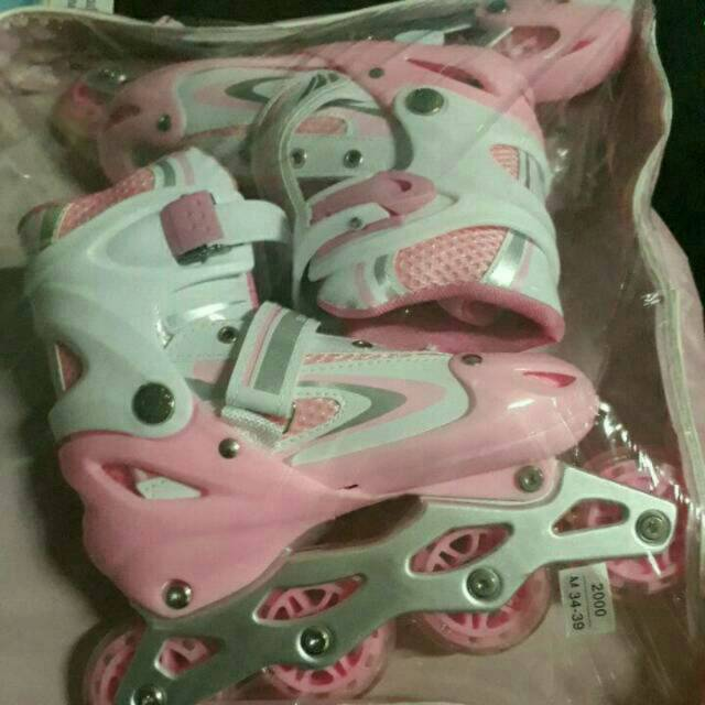 DISKON 40% Sepatu Roda Inline Skate Power Line Warna Pink S M L Termurah  5217ce0a7c