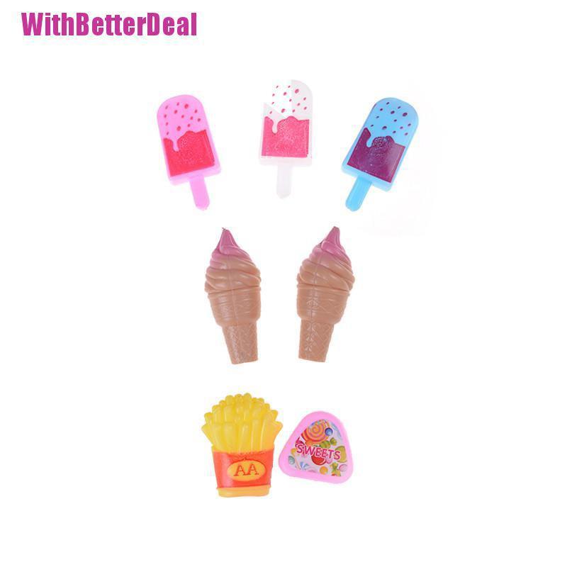 Better 7pcs Mainan Es Krim Loli Kentang Goreng Gula Mini Untuk Dekorasi Rumah Boneka Shopee Indonesia