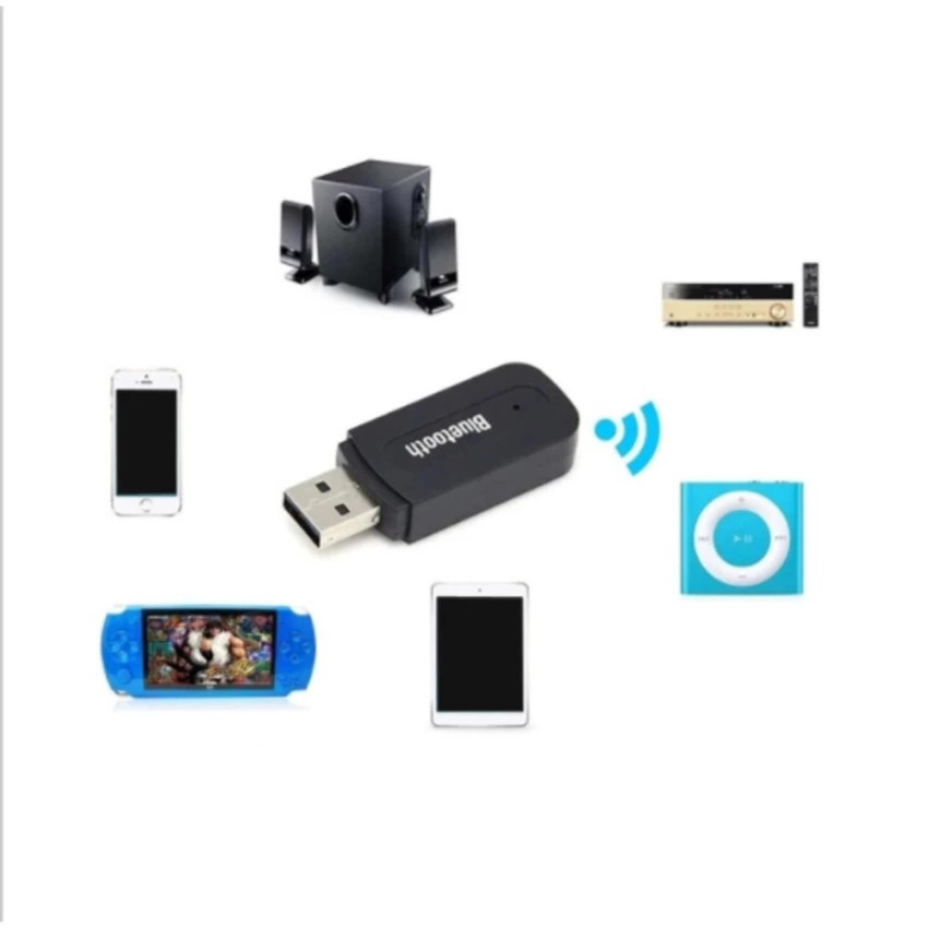 Bluetooth Music 3.5mm Stereo Audio Music Receiver Adapter For Speaker | Shopee Indonesia