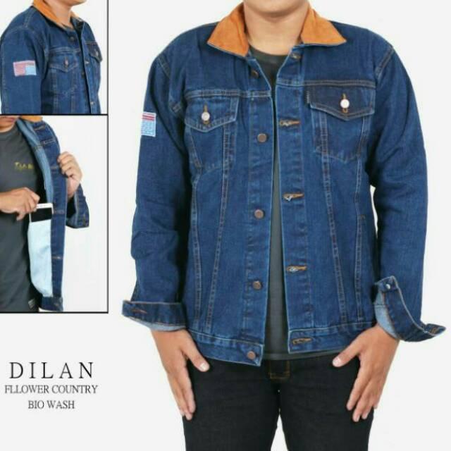 JAKET JEANS DILAN 1990 / JAKET DENIM DILAN / JAKET ARTIS DILAN | Shopee Indonesia