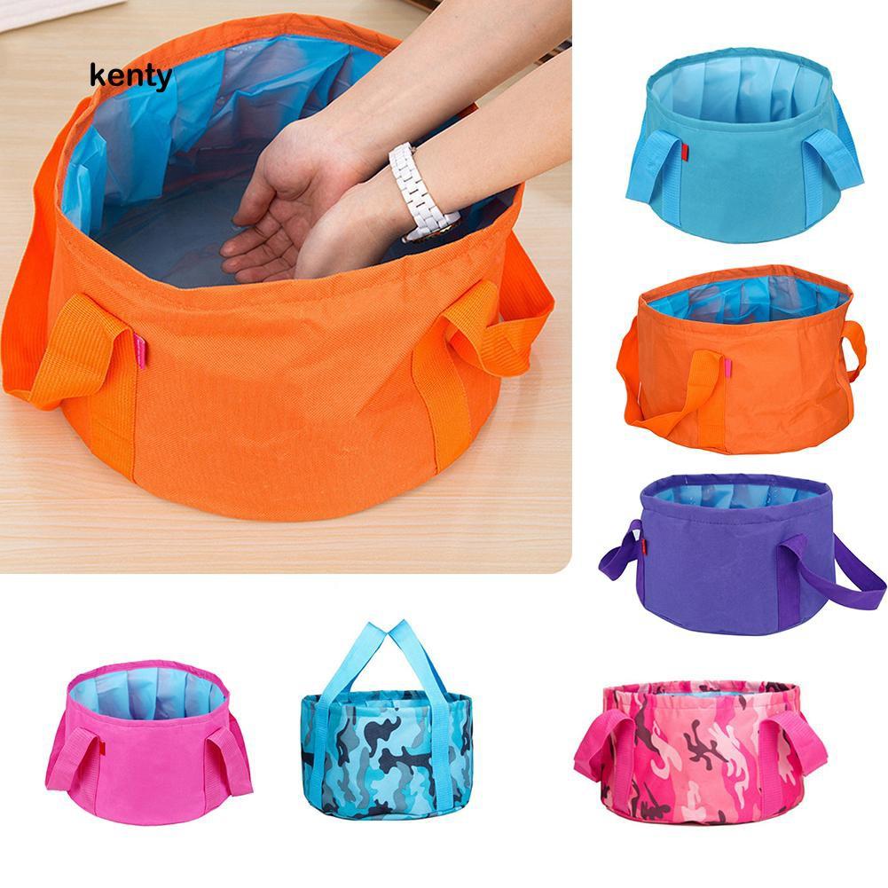 Folding Outdoor Portable Camping Bucket Collapsible Washing Basin Water Pot
