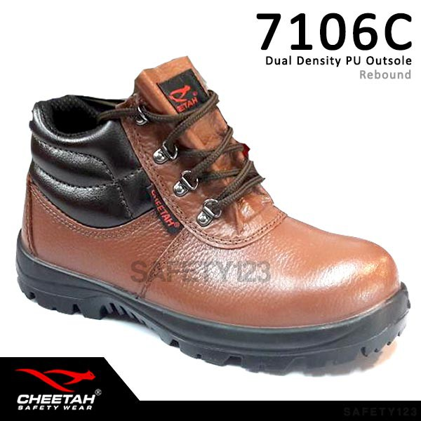 Cheetah 7106H Sepatu Safety Shoes 7106 H Hitam Black  c389c7c64b