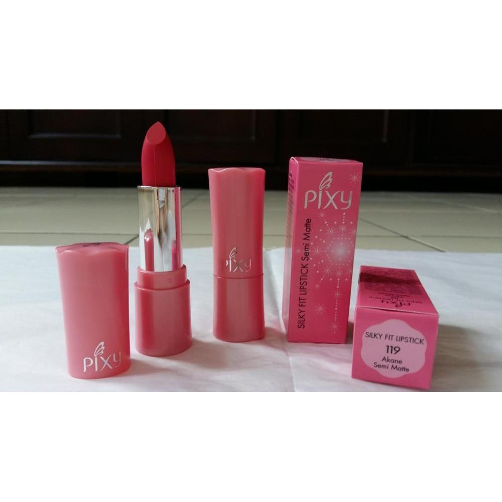 Lips Make Up Pixy Silky Fit Lipstick semi matte Each Unggulan | Shopee Indonesia