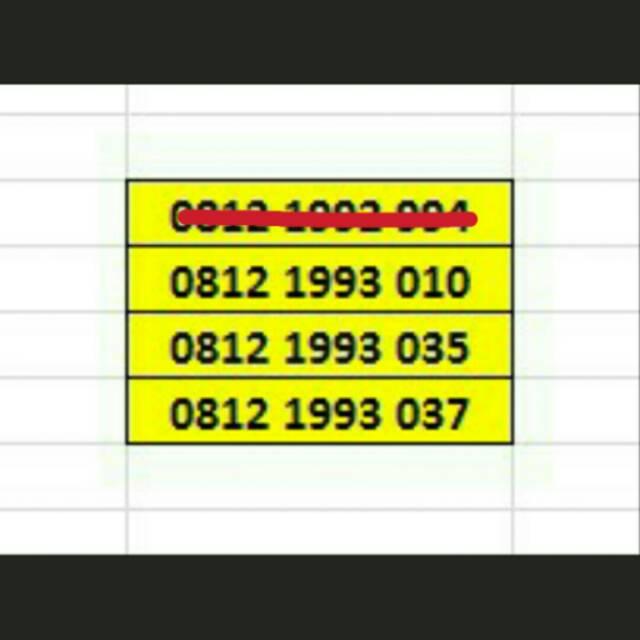 Kartu Perdana Simpati 11 digit angka nomer Nomor Cantik nocan seri tahun 1993 1999 3G unik