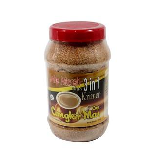 Jahe Merah Original Plus Krimer 3 in 1 Cap Cangkir Mas Toples - Minuman Kesehatan Herbal